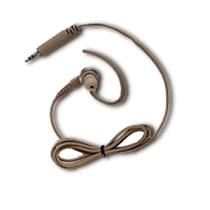 Beige 1-Wire Surveillance Kit with Extra Loud Earpiece