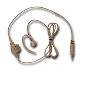 Beige 1-Wire Surveillance Kit (Receive-Only Earpiece)