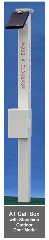 Solar A1 Call Box with PVC Stanchion - Outdoor Door Model