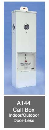 AC/DC A144 Call Box with Strobe Light - Indoor/Outdoor Door-Less