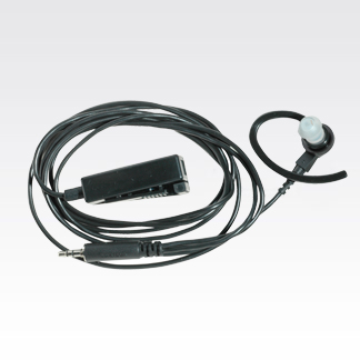 Black 2-Wire Earpiece with Microphone and PTT