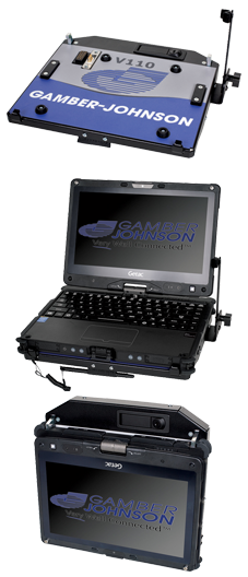 Vehicle Docking Station for Getac V110 Fully-Rugged Convertible Computer