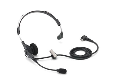 Lightweight Single Muff Adjustable Headset with Swivel Boom Microphone