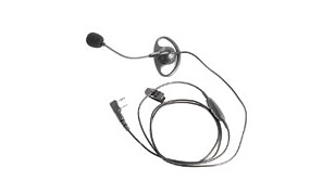 Headset with D-Ring Ear Hanger and Boom Microphone/PTT