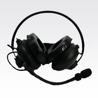 Heavy-Duty Headset with Behind-the-Head Dual Muff