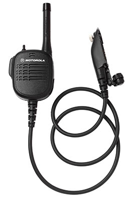 "Public Safety Microphone with UHF Antenna - 30"" Cord"