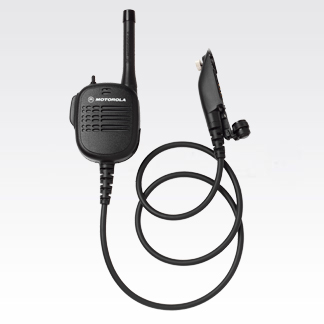 "Public Safety Microphone with UHF Antenna - 24"" Cord"