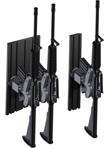 Setina T-Rail Partition Mounted Blac-Rac Weapons Mount