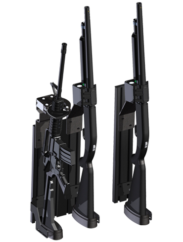 Setina T-Rail Partition Mounted Weapons System