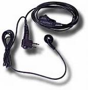 Earbud with Clip Microphone and PTT