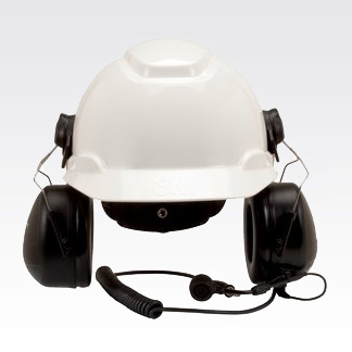 3M Peltor MT Series Hard-Hat Attached Headset with Direct Radio Connect